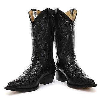 Grinders Indiana Black Womens Western Cowboy Boots