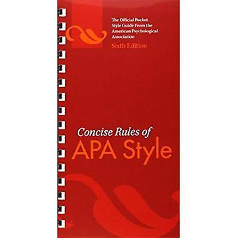 Concise regole di stile di APA (APA, concisa delle regole di stile APA)