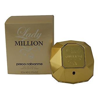 Paco Rabanne Lady Million 80ml Eau de Parfum Spray for Women