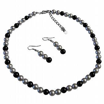 Będziesz wyglądać świetnie w naszej biżuterii perłowej dostępne specjalne srebrny idealna czarna suknia ślubna