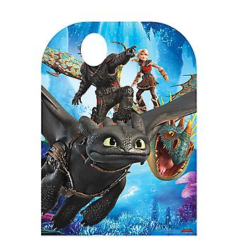 How to Train uw Dragon 3 kind grootte Stand In officiële kartonnen uitsnede