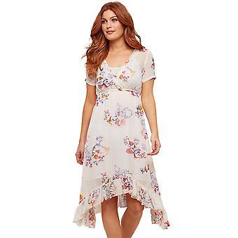 Joe Browns Womens blommig asymmetrisk rynkad klänning