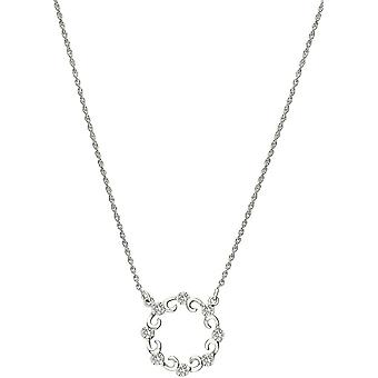 Bella Circle of Life Cubic Zirconia Set Necklace - Silver