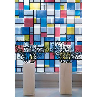 Stained Glass Window Fablon Self Adhesive Multicoloured Stickyback 2m x 67.5cm