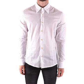 Bikkembergs Ezbc101026 Men's White Cotton Shirt