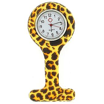 Relda Leopard Paw Print Infection Control Gel Professional Fob Watch REL05
