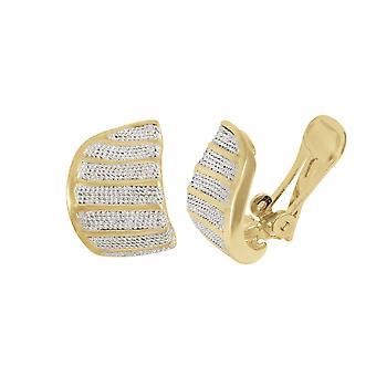 Ewige Sammlung Liebkosung klassische zwei Ton Gold Stud Clip auf Ohrringe