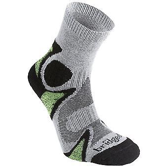Bridgedale zwart/groen heren lichtgewicht Merino cool comfort Sok