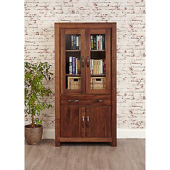 Mayan Walnut Large Glazed Bookcase Brown - Baumhaus