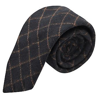 Luxe Oxford blauw Tattersall Check Tweed Tie