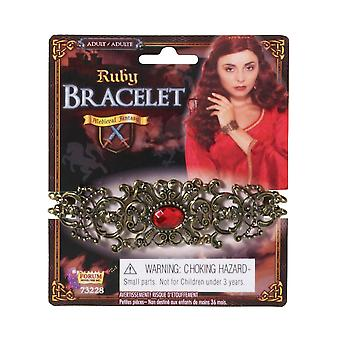 Bristol Novelty Unisex Adults Ruby Stone Bracelet