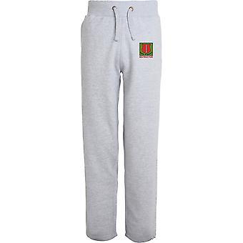 Schule der Infanterie Lehrer - lizenzierte britische Armee bestickt offenen Hem Sweatpants / Jogging Bottoms