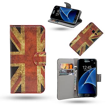 Funda/cartera Samsung Galaxy S7 Edge en piel