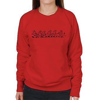 Krazy Kat Ignatz lopen vrouwen ' s Sweatshirt
