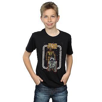 حرب النجوم بنين R2-D2 و C-3PO خمر تي شيرت