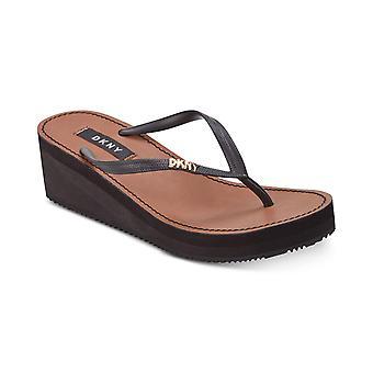 DKNY Womens Mar Split Toe Beach Slide Sandals