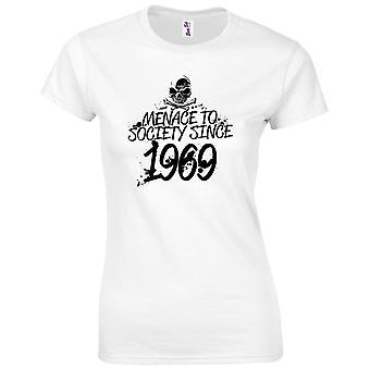 50 års fødselsdag gaver til kvinder hendes trussel mod samfundet 1969 T-shirt