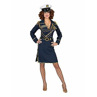 Kostym kapten Carla kapten kostym kvinnors kostym kapten Sailor Sailor kostym