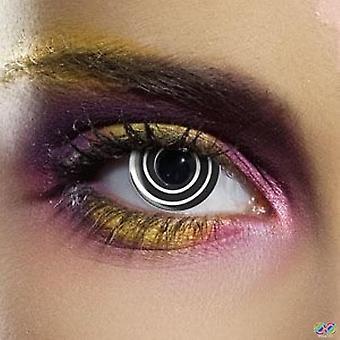 Black Spiral Contact Lenses (Pair)