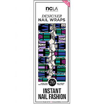 ncLA Los Angeles Instant Nail Fashion Designer Nail Wraps - Glamour Iconico (26 Wraps)