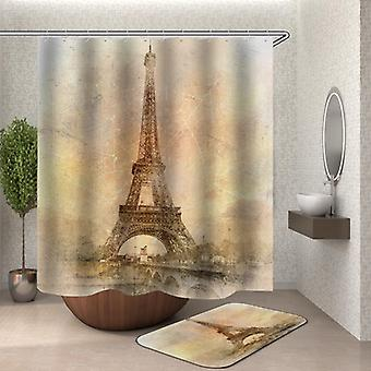 Vintage Eiffel Tower Photo Shower Curtain
