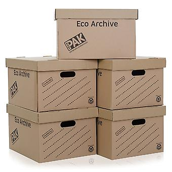 StorePak Pack Of 5 - Eco Archive Cardboard Boxes