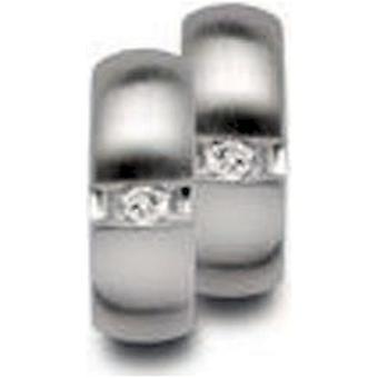 バスティアンインヴルン - シルバーイヤリングクレオールダイヤモンドメッキ - 26520