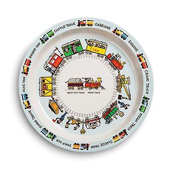 Tyrrell Katz Trains Design Melamine Plate