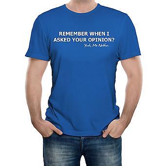 現実のグリッチは、私はあなたの意見を尋ねたとき覚えていますか?メンズTシャツ