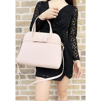 Kate spade kirk park julita saffiano leather bag satchel pink warmvellum bow