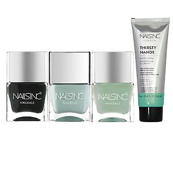 Nails inc All The Greens Nail Polish Collection Set - 3 X 14ml et 1 X 75ml