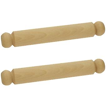Bigjigs Toys Large Wooden Rolling Pin (Pack of 2) Kids Child Children Kitchen