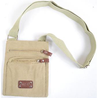 Handy Unisex Canvas Shoulder Cross Body Bag - Black