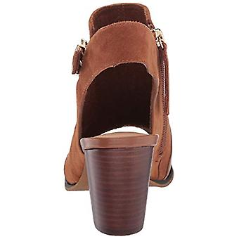 Bella Vita Women's Kellan Block Heel Sandal Shoe, Biscuit Leather/Suede Leath...