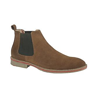 Roamers Sand Real Suede Gusset Boot Textile Lining Suede Sock Tpr Sole