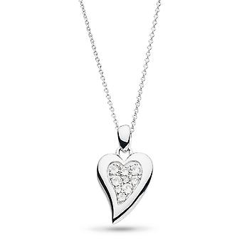 Kit Heath Desire Precious White Topaz Big Heart 22-quot; Necklace 90506WT