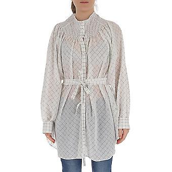 Maison Flaneur 20smdsh420tc287white Women's White Cotton Shirt