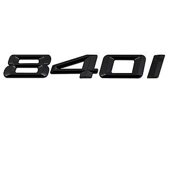Kiilto musta BMW 840i auton merkki tunnus mallinumerot kirjaimet 8-sarjan G14 G15 G16
