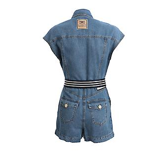 Elisabetta Franchi Tj11d01e2192 Damen's Blauer Baumwoll-Jumpsuit