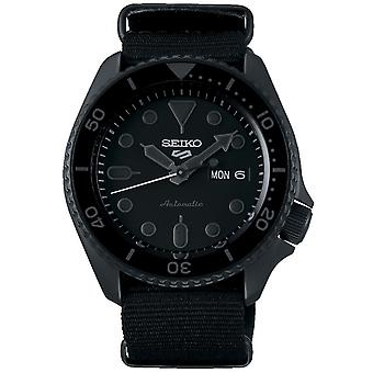 Seiko 5 Sports Stainless Steel Case Black Canvas Strap Automatic Men's Watch SRPD79K1