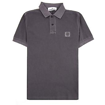 Ilha de Pedra 22S67 Slim Fit Patch Polo Carvão V0063