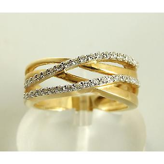 Christian gold ring with diamonds
