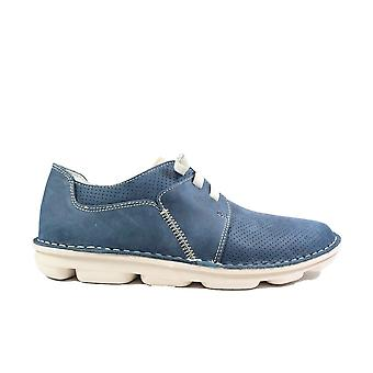 On Foot Blucher Sport 7021 Navy Nubuck Leather Mens Slip On Shoes