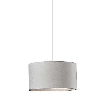 Lámpara de suspensión de tambor elegante de tela blanca
