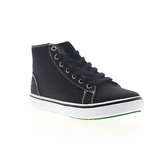 Emeril Lagasse Read Canvas  Womens Black High Top Sneakers Shoes