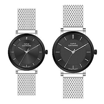 Carlo Cantinaro CC3001SM003 Partner Set Women's Watch Men's Watch
