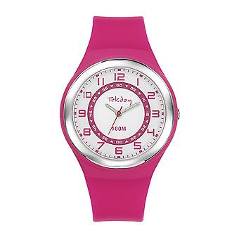 Tekday 654653 Watch - Silicone Pink Silicone Case Silicone Rose Women's Bracelet