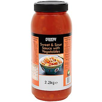 Country Range Sweet and Sour with Vegetables Sauce