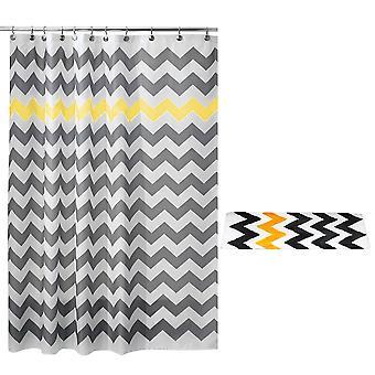 Wave geometric shower curtain set 2 Piece