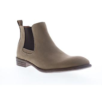Robert Wayne Oklahoma  Mens Brown Leather Slip On Chelsea Boots